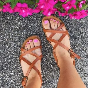 Mariella Faux Leather Strappy Sandals